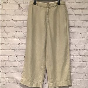 GAP 100% Linen Crop Pants Excellent Condition 24""